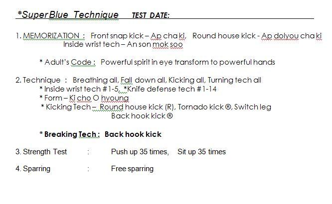 White Belt Basic Form 1